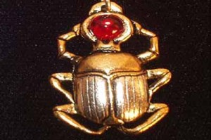 Golden scarab beetle