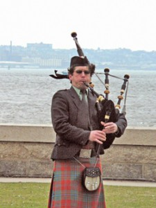 Dueling bagpipes